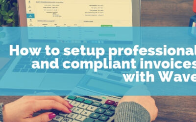 How to setup professional and compliant invoices with Wave